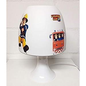 ✿ Tischlampe ✿ FEUERWEHRMANN Feuerwehr SAM personalisiert mit oder ohne Name ✿ Tischleuchte ✿ Schlummerlicht ✿ Nachttischlampe ✿ Lampe ✿