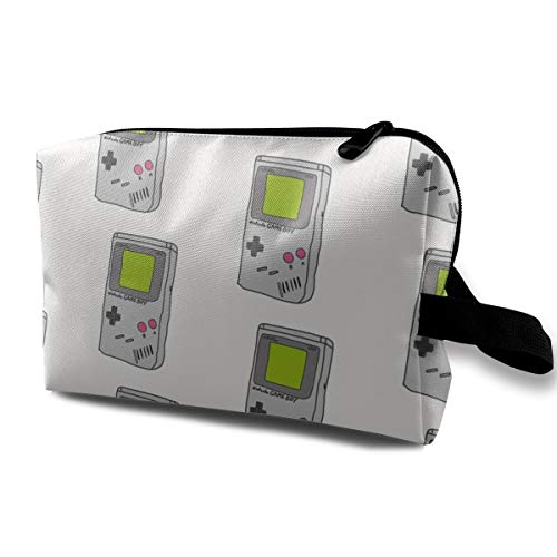Gameboys Throwback Retro Gaming Systems creamLuxury Large Makeup Bag Pouch Purse Handbag Organizer with Zipper   Oxford Cloth Cosmetic Toiletry Travel Bag (Game Boy-system)