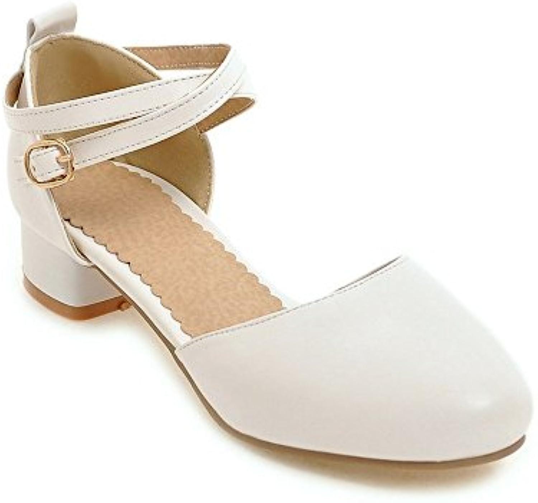 Zapatos de Mujer PU Sandalias de Verano Zapatilla, Slingback Slouch Boots Sandalias Zapatos para Caminar Talón... -