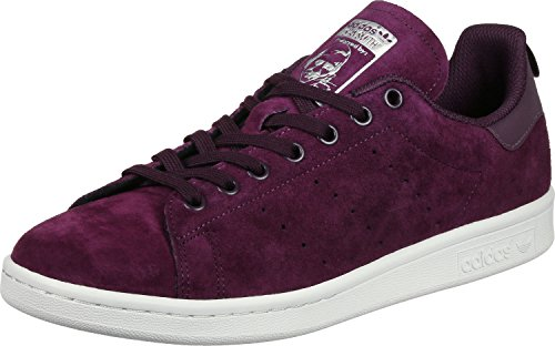 Adidas Stan Smith D67361, Baskets Mode Homme rouge/blanc