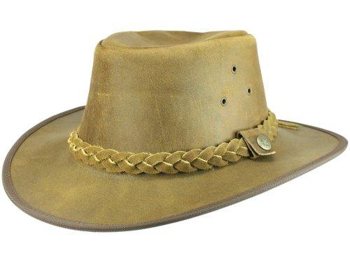 Scippis Hooley Chapeau western de cow-boy en cuir Marron