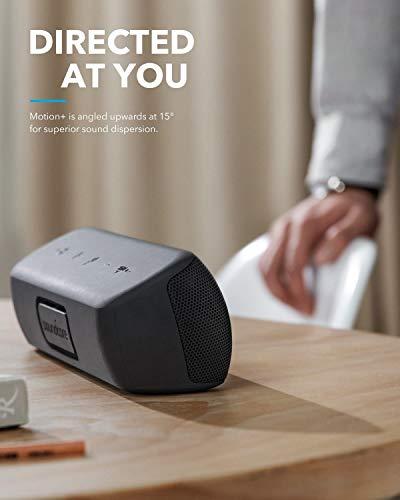 Altoparlante Bluetooth Soundcore Motion+ con Hi-Res Audio 30W, BassUp, alti/bassi estesi, altopar. portat. HIFI wireless con app, EQ personalizzabile, 12 ore di riproduzione, IPX7 impermeabile e USB-C