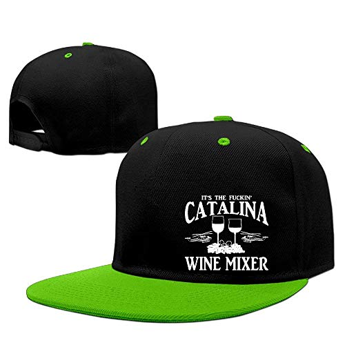 JKKSA Vintage Cotton Basecap Snapback Caps Unisex Classic Trucker Baseball Cap It's The Fuckin' Catalina Wine Mixer Flatbill Snapback Hats