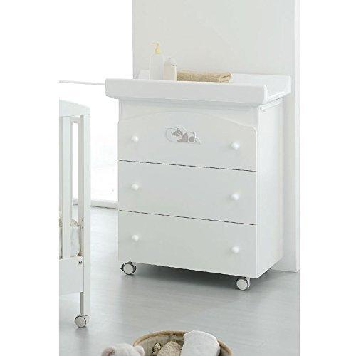 Bagnetto Fasciatoio Erbesi Dormiglione Bianco