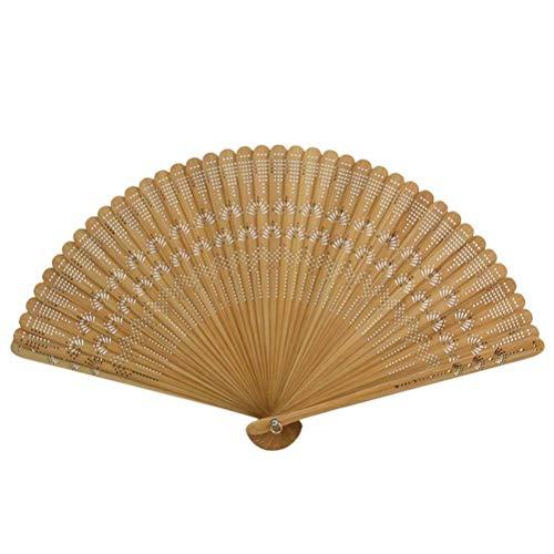 fächer Vintage Fan Holz Hand Fan Hochzeit Bridal Party gefallen (braun) ()