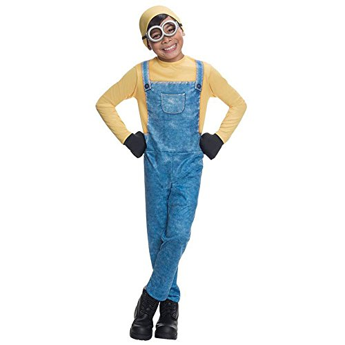 Unbekannt Minions Kinder Kostüm Minion Bob Karneval Fasching Gr.5 bis 6 J. (Minion Kostüm Für Kinder Halloween)