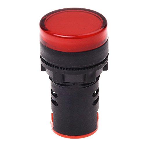 SODIAL(R) AC 220V rote LED Betriebsanzeige Pilot einzigen Licht Lampe 22mm