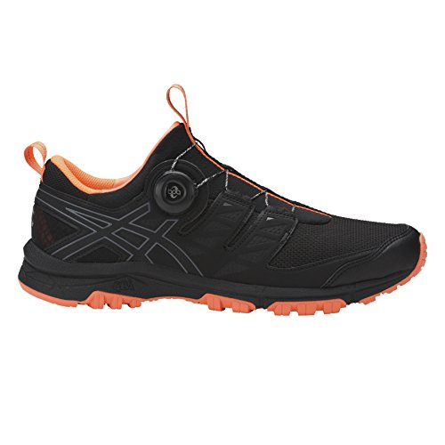 Asics Gel-Fujirado, Chaussures de Running Homme Multicolore (Black/carbon/hot Orange)