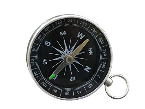 Plsonk Explorer Compass, Métal Keychain Explore Compass Multifonction Outils de Navigation en Plein air pour Le Camping (Argent) Outil de Navigation