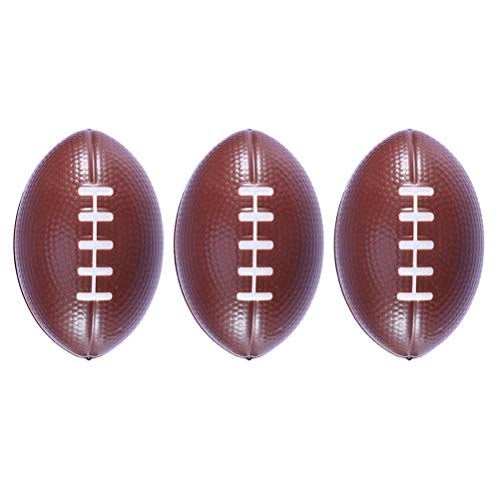 LIOOBO 3pcs Mini Sportbälle Stressabbau Squeeze (Rugby)