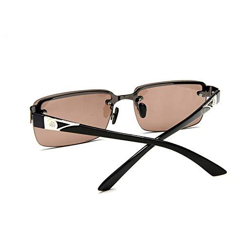 xinrongqu Sonnenbrillen - Schutzbrillen Auffällige Vintage-Sonnenbrille Flache Herrenbrille Waffengestell Hellbraun