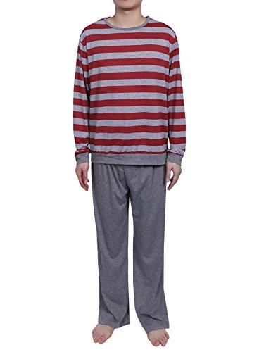 passen Herren Schlafanzug Stück Nachtwäsche zwei Baumwolle