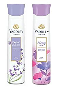 Yardley London Deodorant For Women English Lavender and Morning Dew Combo Pack 2 (150 ml)
