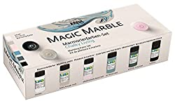 Kreul 73613 - Magic Marble Marmorierfarben Set, Chalky Living, 6 X 20 Ml