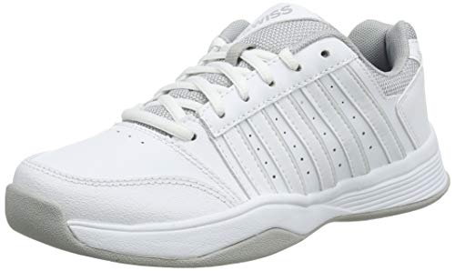 K-Swiss Performance Damen Court Smash Carpet WHT/HIGH-Rise-M Tennisschuhe, Weiß, 4 000070594, 37 EU