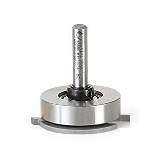 Amana Tool 45680 Carbide Tipped Flooring Straight Dedicated Cutter 1-39/64 D x 7/64 CH x 1/4 Inch SHK Router Bit w/Upper BB