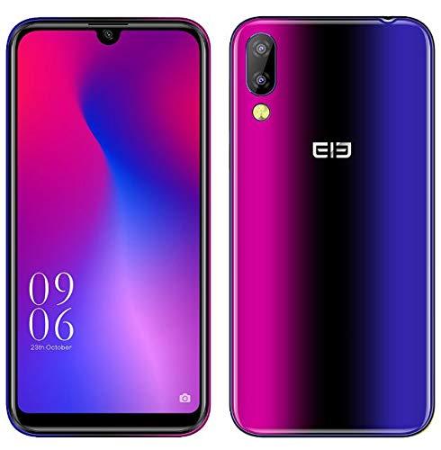 Elephone A6 Mini Android 9.0 4G Dual-SIM Smartphone Ohne Vertrag - 5,7 Zoll HD+moderner Wassertropfen Bildschirm Handy, MTK6761 2.0GHz 4GB+64GB, 16MP Frontkamera, 16MP+2MP Dual-Rückkamera - Nebel