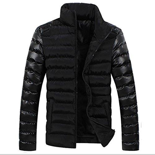 giacca da uomo, FEITONG Inverno Caldo Sottile Casuale Cappotto  Giacca Cappotti (L, Nero)