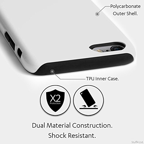 Officiel Elena Dudina Coque / Matte Robuste Antichoc Etui pour Apple iPhone 8 Plus / Feu Blanc Design / Un avec la Nature Collection Rêveur
