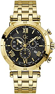 Gc Mens Quartz Watch, Chronograph Display And Stainless Steel Strap - Y44006G2MF
