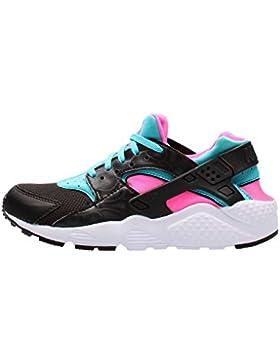 Nike Mädchen Huarache Run (Gs) Laufschuhe, Schwarz