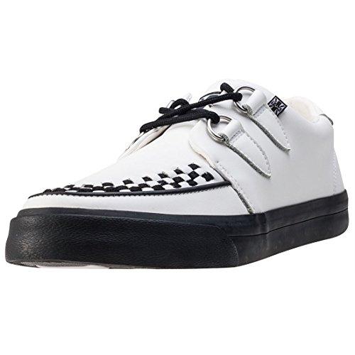 T.U.K Vlk D-ring Creeper Sneaker Unisex Sneakers White Black - 40 EU
