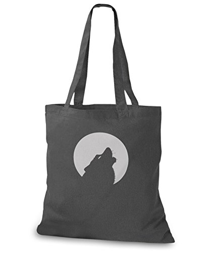 StyloBags Jutebeutel/Tasche Moon with Wolf, -