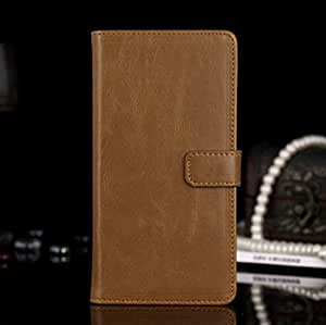 Business Style Wallet PU Leather Stand Flip Cover for LG G3 D850 D855 LS990 - Brown
