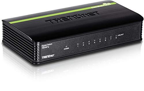 TRENDnet 8-Port Unverwalteter Gigabit Switch, GREENnet, Desktop, Plastic Gehäuse, 16 Gbps Schaltkapazität, TEG-S81g (8-port Trendnet)