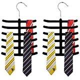 Velvet Tie Hanger (Set of 2) - Black