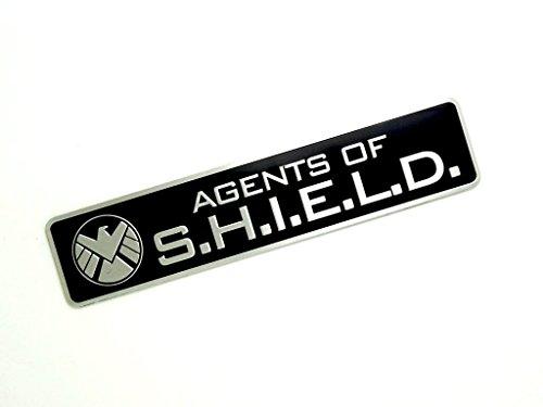 Agents Of Shield Metall Cosplay Auto Aufkleber Abzeichen Fan Decal (Schwarz) (Agent-aufkleber)