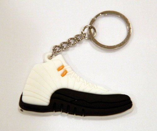 Air Jordan 12XII. AJ12Retro CDP Taxi weiß/schwarz Schlüsselanhänger Ring Schlüsselanhänger DD von Jordan