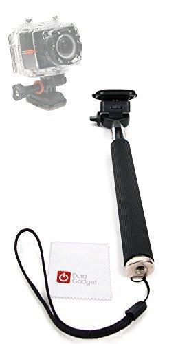 DURAGADGET Perche téléscopique pour PNJ AEE MagiCam S51, S71, S70+ et S70 (Extrême, Extrême F2, Light, Light F2) mini caméscope Gamme S - Selfie Stick ajustable