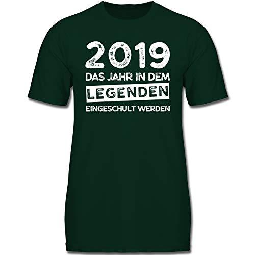 Verrückte Jungs T-shirt (Einschulung und Schulanfang - 2019 Das Jahr in dem Legenden eingeschult Werden - 152 (12-13 Jahre) - Tannengrün - F130K - Jungen Kinder T-Shirt)