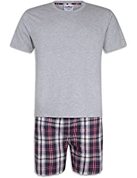 dd01319ab2 iceBoo® Mens 2 Piece Pyjama Shorts Set with Short Sleeve T Shirt Nightwear  Summer Loungewear
