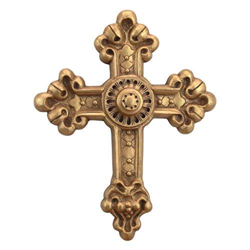 Design Toscano EU34501 Wandrelief Barockes Kreuz der Neuen Welt, Wandskulpturen, Andere, Gold, 1,25...
