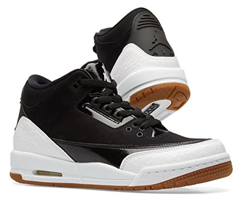 Nike Air Jordan 3 Retro GS Hi Top Trainers 441140 Sneakers Shoes (UK 3.5 us 4Y EU 36, Black White Gum 022) - Air Jordan 3 Retro