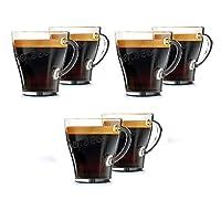 Genuine Senseo Exclusive Coffee Espresso Café Tumbler Shot Glass Cups 120mm (Pack of 6 Glasses)