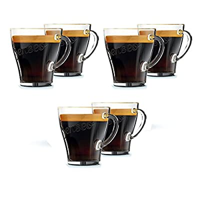 Genuine Senseo Exclusive Coffee Espresso Café Tumbler Shot Glass Cups 120mm (Pack of 6 Glasses)