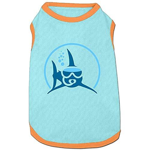 Welpen Hai Kostüm - Frederih Hai Tauchen Welpen Hunde Shirts Kostüm Haustiere Kleidung Warme Weste T-Shirt L (Brust 47Cm, Länge 36Cm)