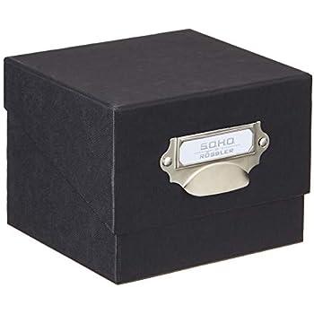Rössler 1325452700 Boîte de rangement pour photos Noir: Amazon.fr: Fournitures de bureau