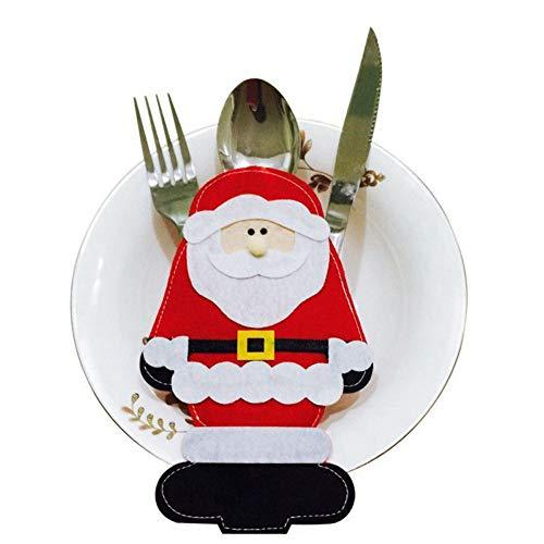 Vijtian - set di 2 forchette natalizie decorative, accessorio molto utile per illuminare il tuo look