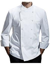 Chaqueta de chef para hombre de algodón transpirable uniforme de cocina Ropa de trabajo CFM0028