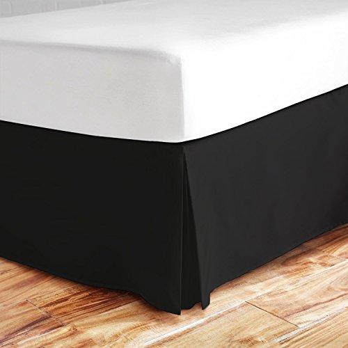 Zen Bambus Ultra Weiche Bett Rock-PREMIUM, umweltfreundlich, hypoallergen, und knitterfrei Bambus Staub Rüsche mit 35,6cm Drop, Bambus, schwarz, King Size (Röcke Queen-size-braun Bett)