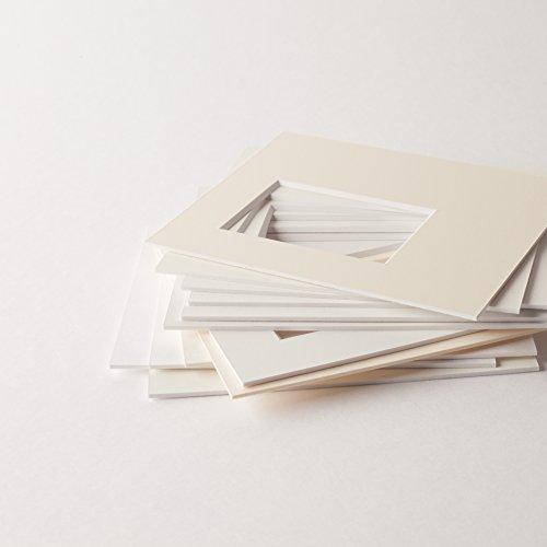 Passepartouts in Museumsqualität – alle Weißtöne – 1,4mm stark – alle Größen - (Außen: 50 x 70cm / für Bildgröße: 30 x 45cm) - Farbe: MontBlanc18