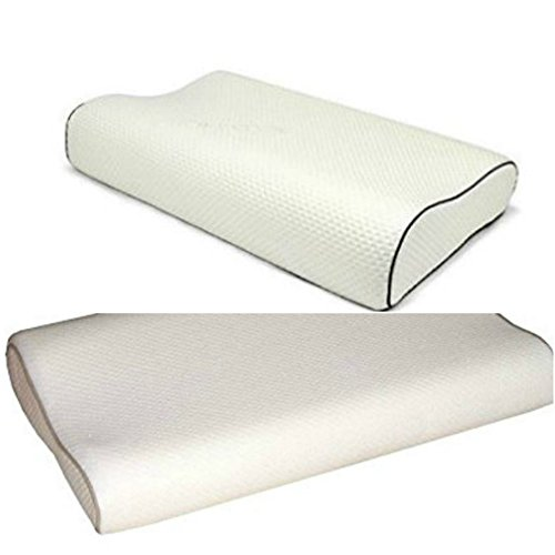 RB Luxury Contour Memory Foam Pillow with Zipped Cover Head Neck Back Support Orthopaedic Pillow (Size: Large 60 cm x 40 cm x 11 cm)