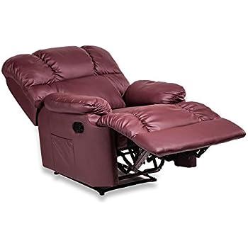 Relaxsessel mit liegefunktion  Fernsehsessel aus Kunstleder Sessel Relaxsessel Liegefunktion ...