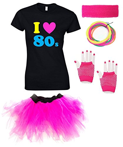 I Love the 80s T-shirt, Tutu Sizes 8 to 16