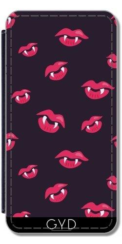 DesignedByIndependentArtists Leder Flip Case Tasche Hülle für Apple iPhone SE - Vampir Mund Und Zähne by Boriana Giormova