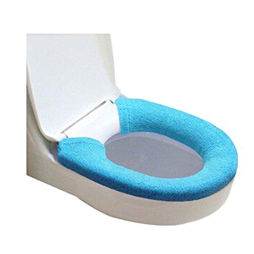 Morbido più caldo copriwater copertura buttons bagno closestool coperchio pad protector, blue, taglia unica